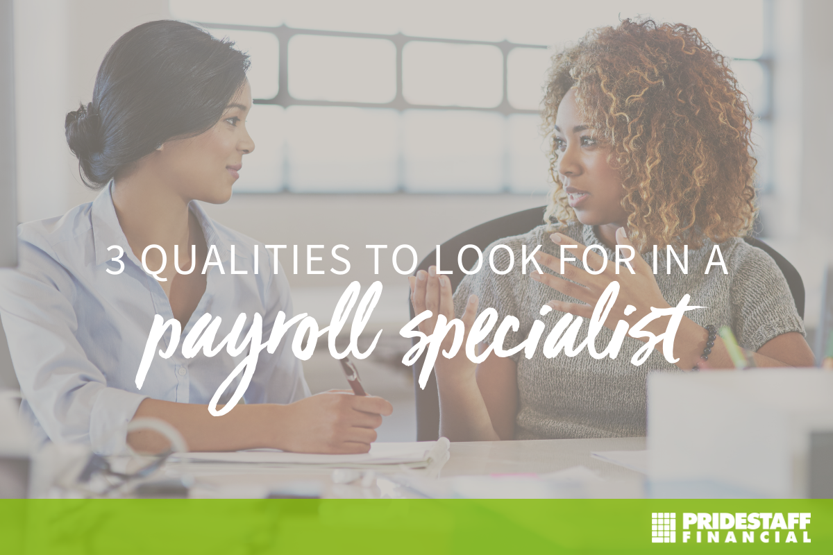 qualities for payroll specialist