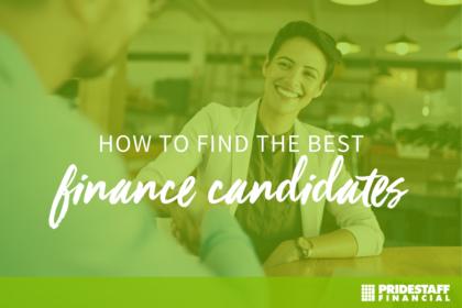 find best finance candidates
